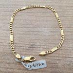 €300,00 – Bracciale a maglie alternate in oro giallo 18k (750/1000)