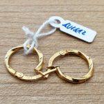 €32,00 – Coppia di orecchini economici a cerchietto in oro giallo 18k (750/1000)